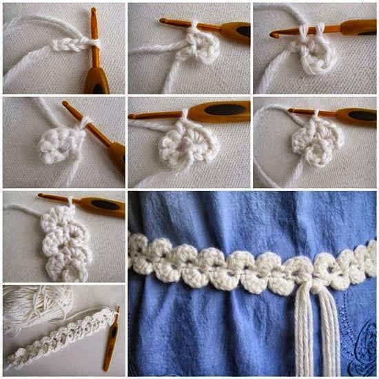 Una guarda simple tejida al crochet crochet y dos agujas patrones de tejido - Como coser cortinas paso a paso ...