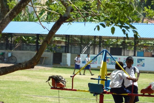 aires de jeux pour les enfants au Sri Lanka