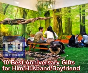 Top 10 Best Anniversary Gifts for Him/Husband/Boyfriend ~ Top 10 Lists ...