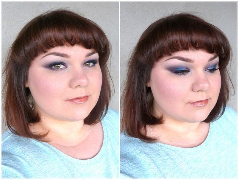 intensives Make up Violett Blau
