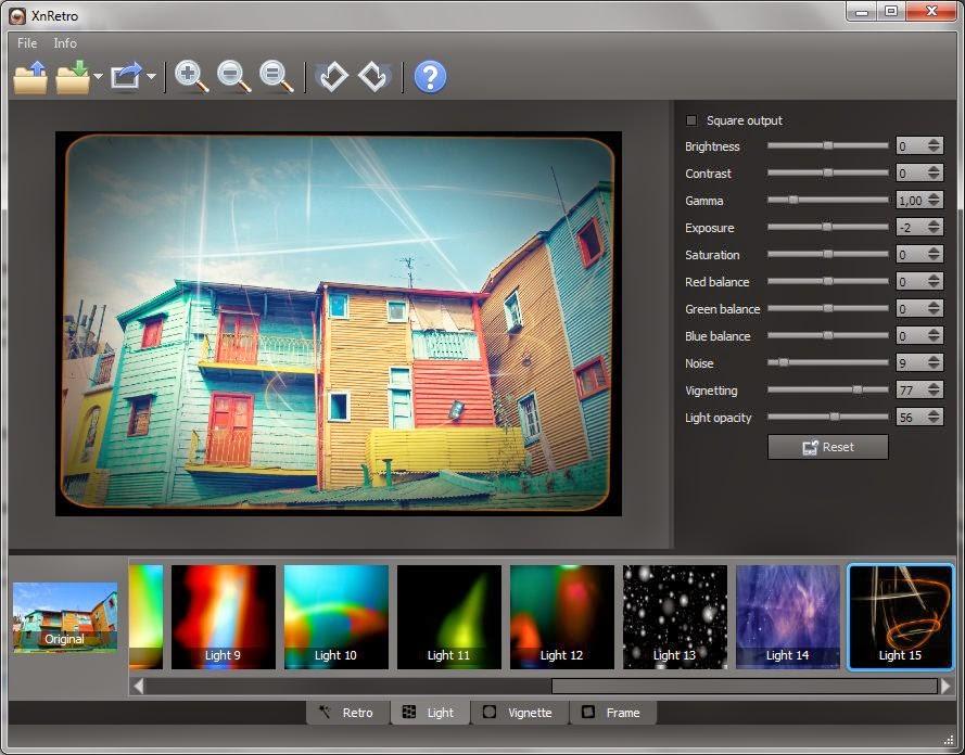 برنامج مجاني لتحسين الصور وإضافة التأثيرات عليها لويندوز وماك وأندرويد XnRetro Win-MAC-APK 1.14
