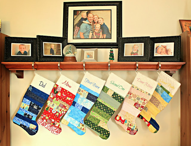 Easy Quilted Christmas Stockings by Freshly Completed