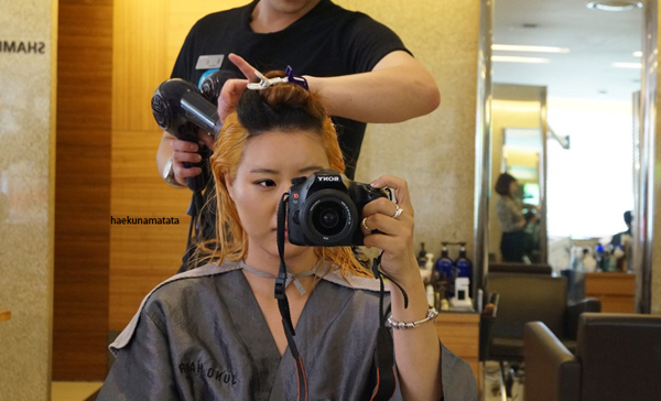 Asian hair bleaching two tone