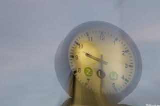 Zoom Blur Effect on a Clock