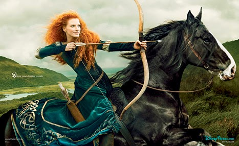 Jessica Chastain as Merida from Brave - Annie Leibovitz - Disney Dream Portraits