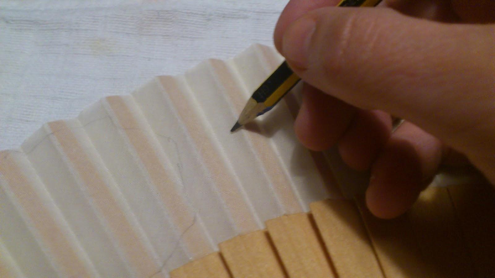 El escaparate de teresa paso a paso de un abanico - Como pintar abanicos ...