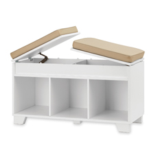 Real Simple Split-Top Bench Storage Unit - White | Furniture