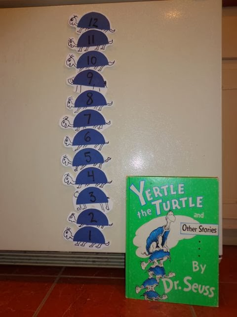 Yertle the Turtle by Dr. Seuss Stackable Turtles Activity Idea via www.happybirthdayauthor.com