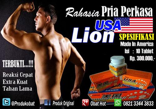 Obat Kuat Lion Usa Bermanfaat meningkatkan Hormon Sexual Serta Menambah banyak Ukuran Sperma Pria.
