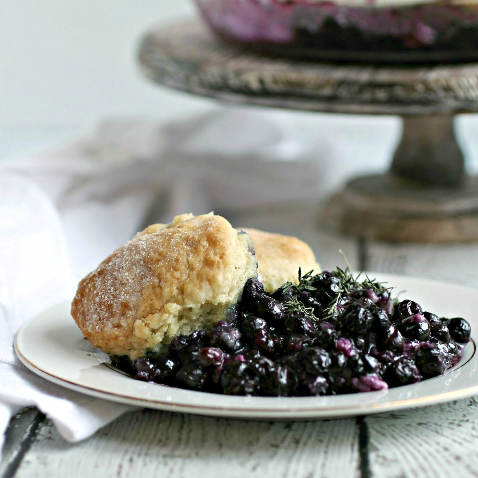 Hungry CoupleBlueberry Cobbler with Goat Cheese and Thyme
