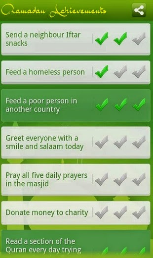 Ramadan Achievements