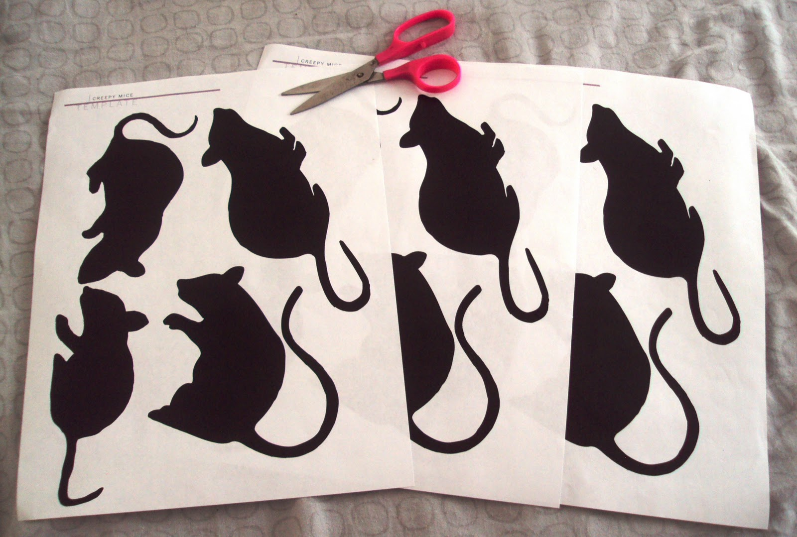the gab housewife chronicles: halloween paper mice