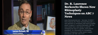 San Jose plastic surgeon Dr. R.L. Berkowitz on ABC News