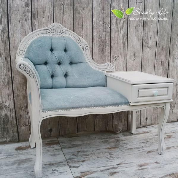 recupero creativo di divanetto antico