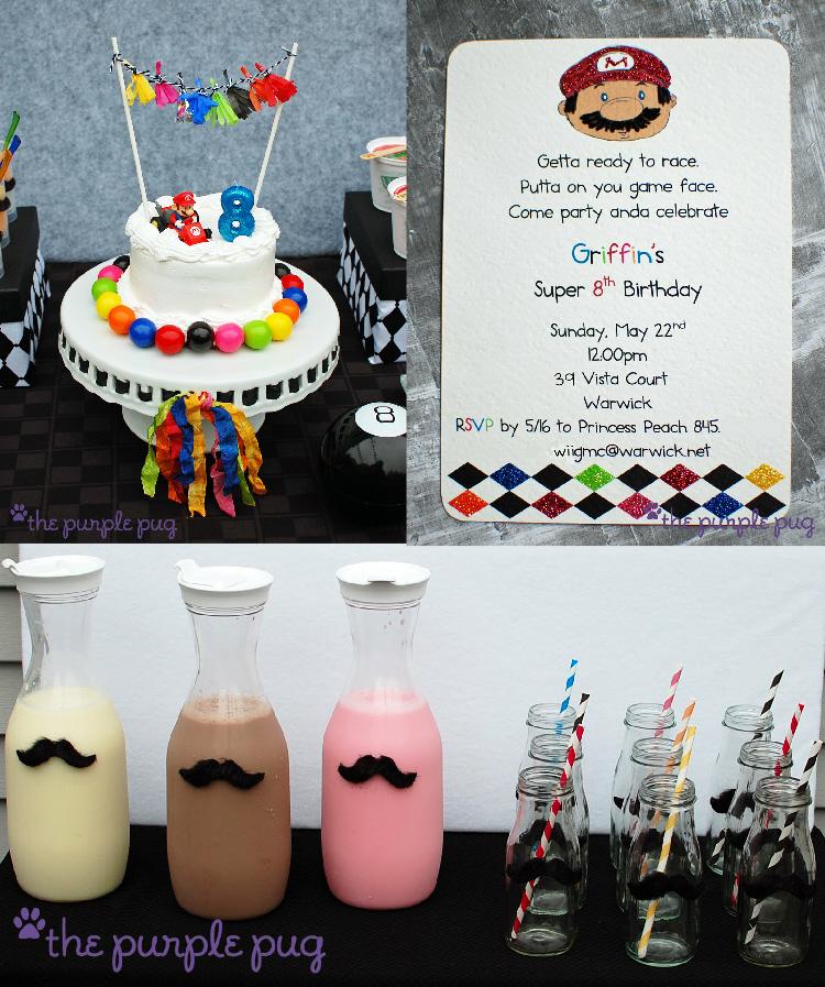 Super Mario Brothers Birthday Invitations Party Ideas