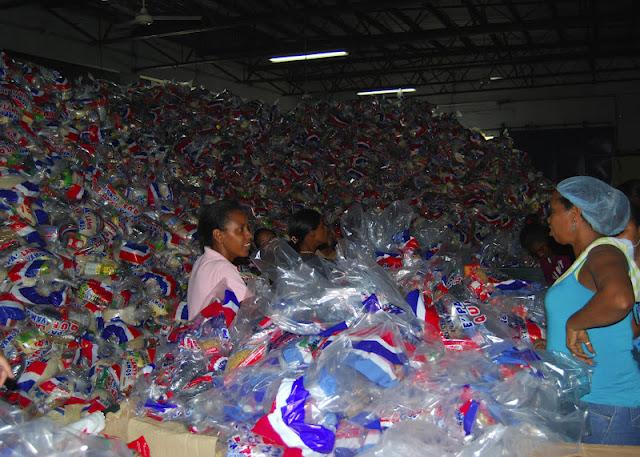 Gobierno envía 2,568 quintales de comida a las familias afectadas por las lluvias en la región norte