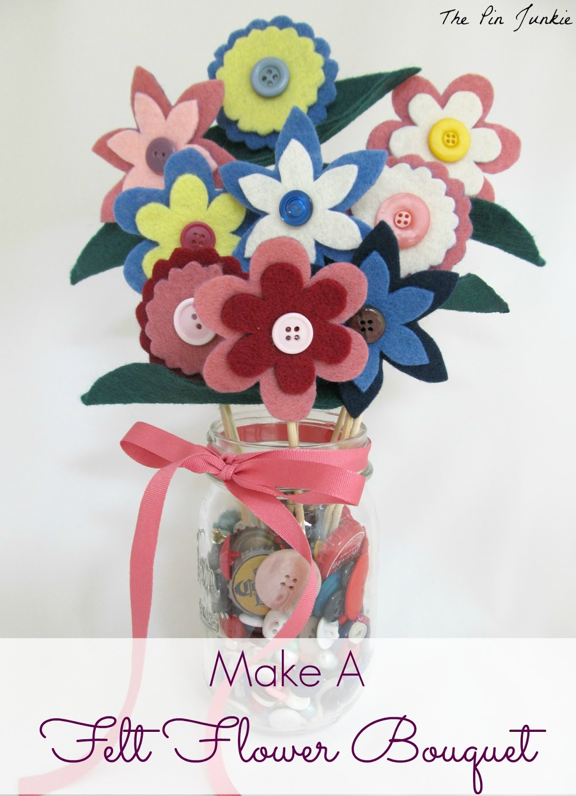 The pin junkie how to make paper bluebonnets - Felt Flowers