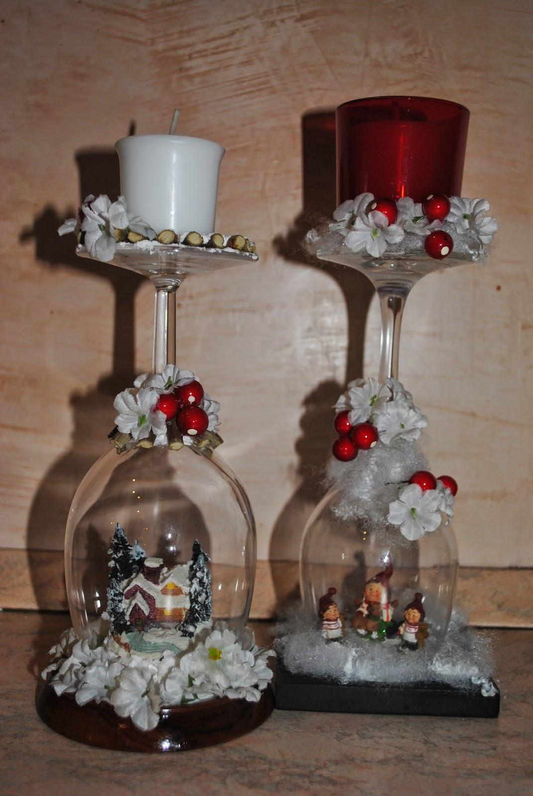 Le tegole del villaggio - Bicchieri decorati per natale ...