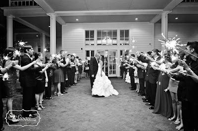 lake mary wedding sparkler exit