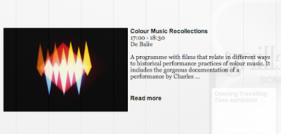 Colour Music Recollections - Sonic Acts, 2012