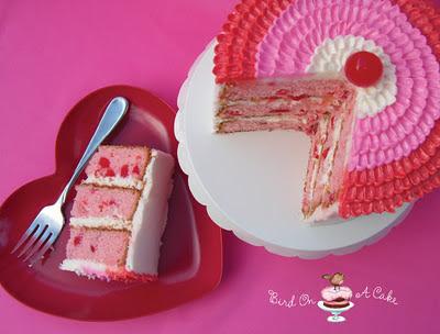 Bird On A Cake: Cherry Almond Valentine Cake