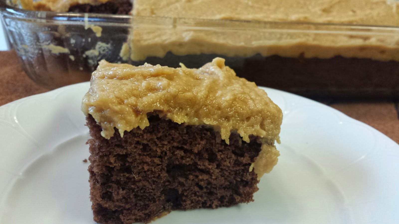 My Patchwork Quilt: CHOCOLATE SHEET CAKE with PEANUT BUTTER FROSTING