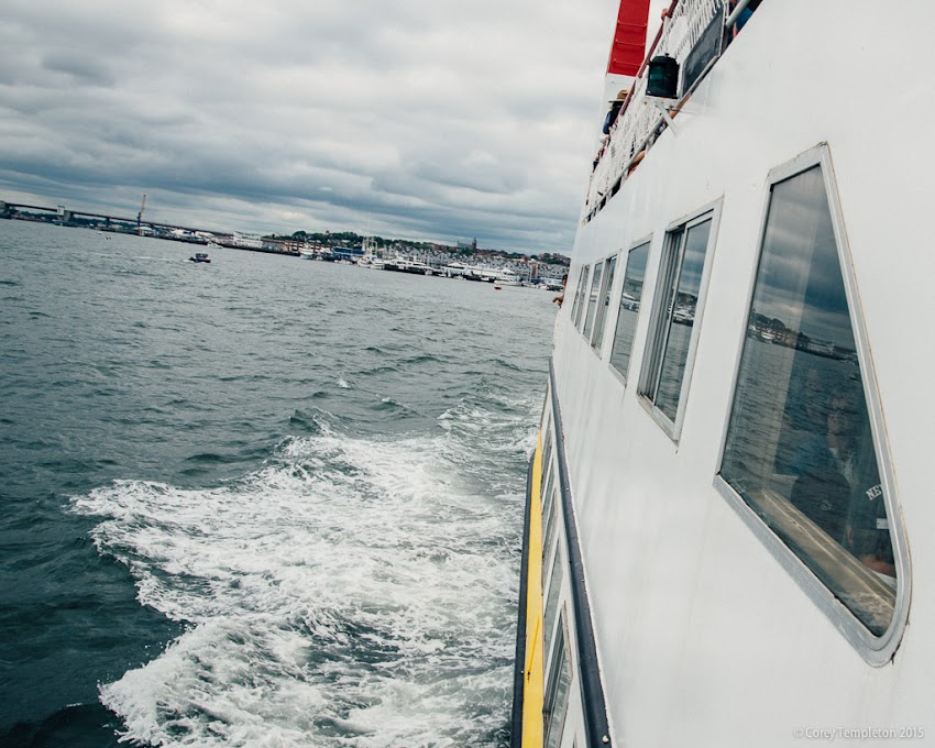 August 2015 Portland, Maine USA Casco Bay Lines Ferry boat to Peaks Island. Photo by Corey Templeton.