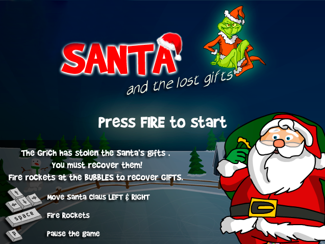 http://www.agame.com/game/santa-and-the-lost-gifts