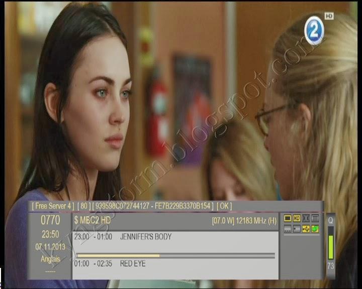 Les chaînes du bouquet MBC HD (Nilesat 7° W) sont maintenant