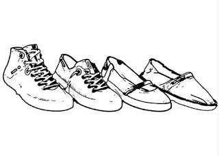 Desenhos Para Colori Os Tênis allstar e Nike desenhar