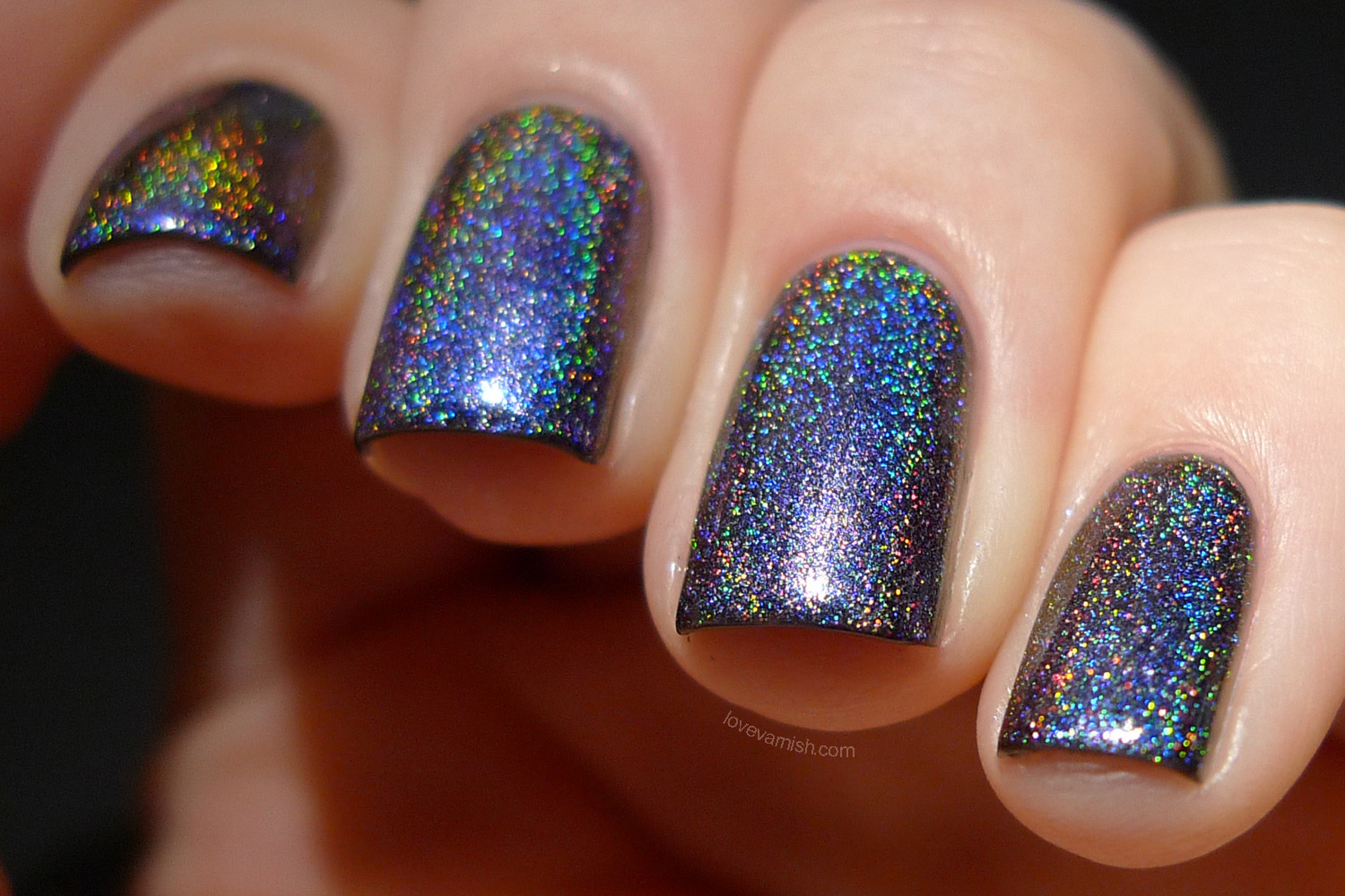 Polish Alcoholic Bradypodion multichrome holographic polish