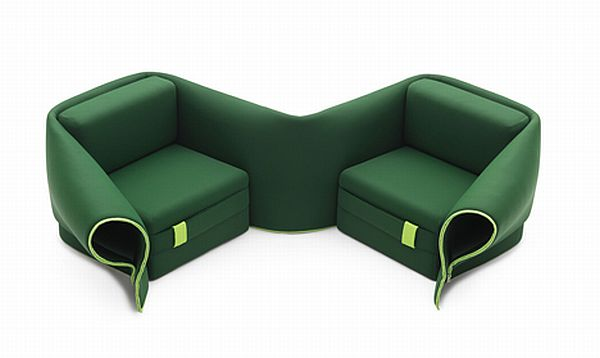 Multipurpose sofa bed and a chair unified kerala home - Sofas comodos y modernos ...