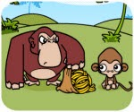 Game Khỉ con trộm chuối