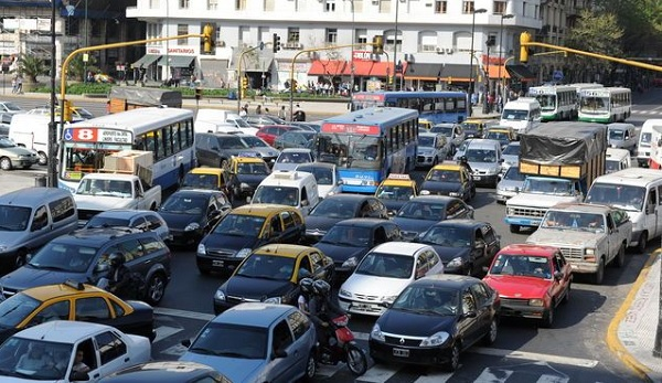 caos de tránsito