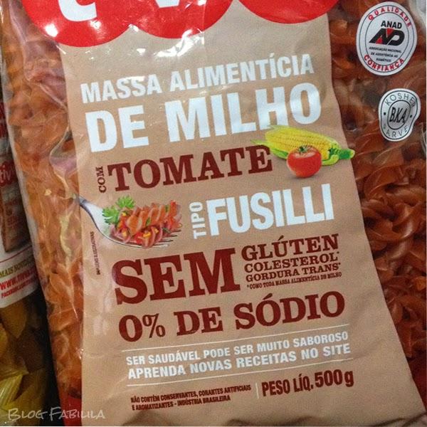 Fusilli de Milho com Tomate Tivva - macarrão sem gluten