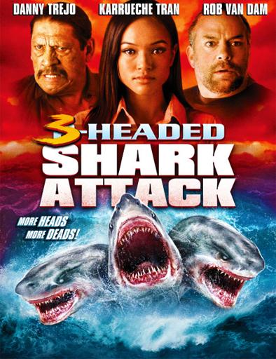 Ver El ataque del tiburón de tres cabezas (2015) Online
