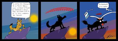 Tira cómica lobo ibérico