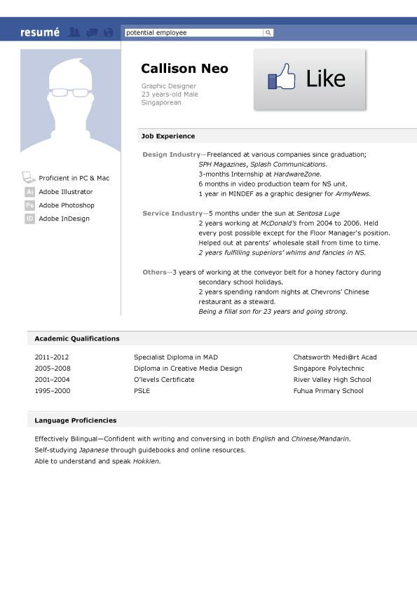 Facebook  Resume How To