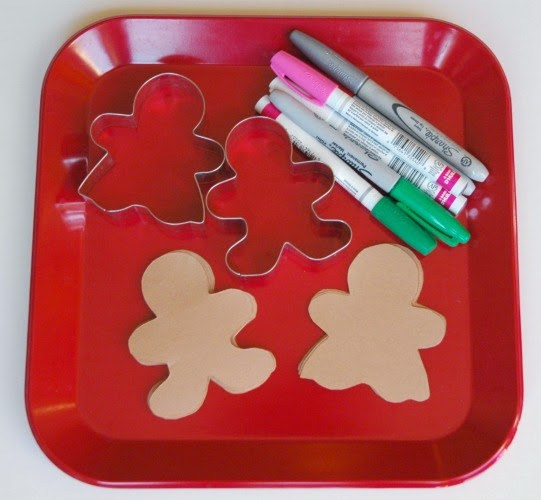 supplies for gingerbread garland craft