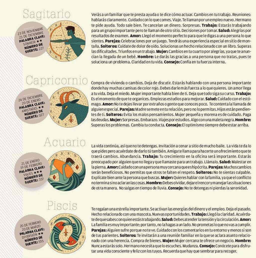 ... ,Capricornio,Acuario,Piscis del 23 al 1 de marzo de 2014 Adriana Azzi
