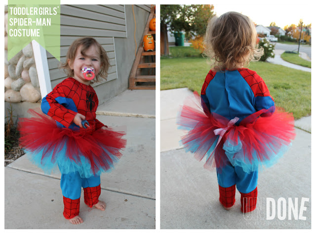 UNDONE: Add a tutu to a Spider-Man costume {Practicing Pinterest}