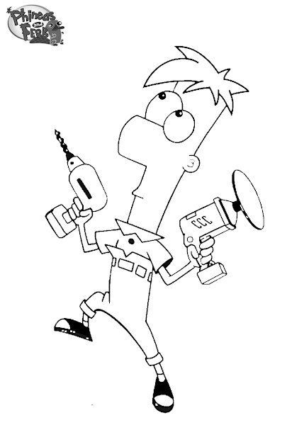 Coloring Pages of Phineas and Ferb