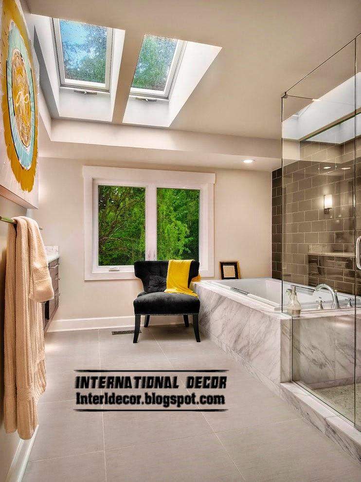New designs of skylights and roof windows for bathroom
