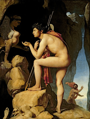 ingres oedipus and the sphinx one objectivist's art object of the day