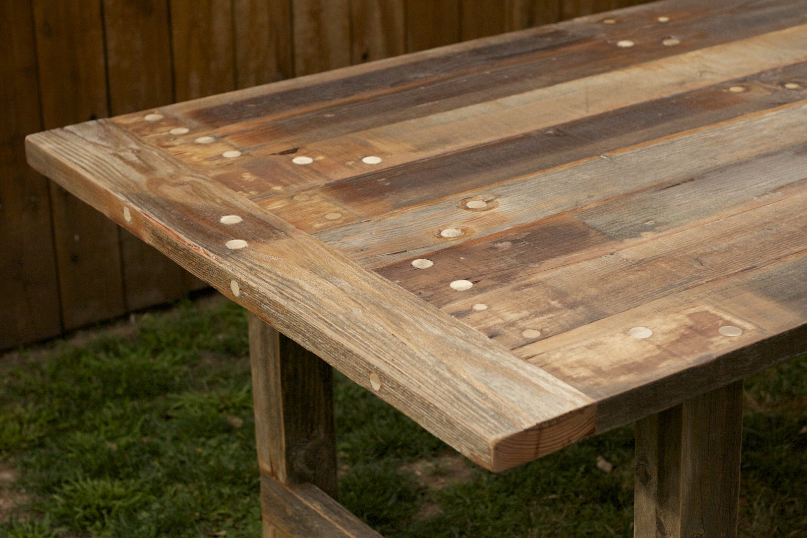 Arbor Exchange Reclaimed Wood Furniture Weathered Outdoor Dining Table