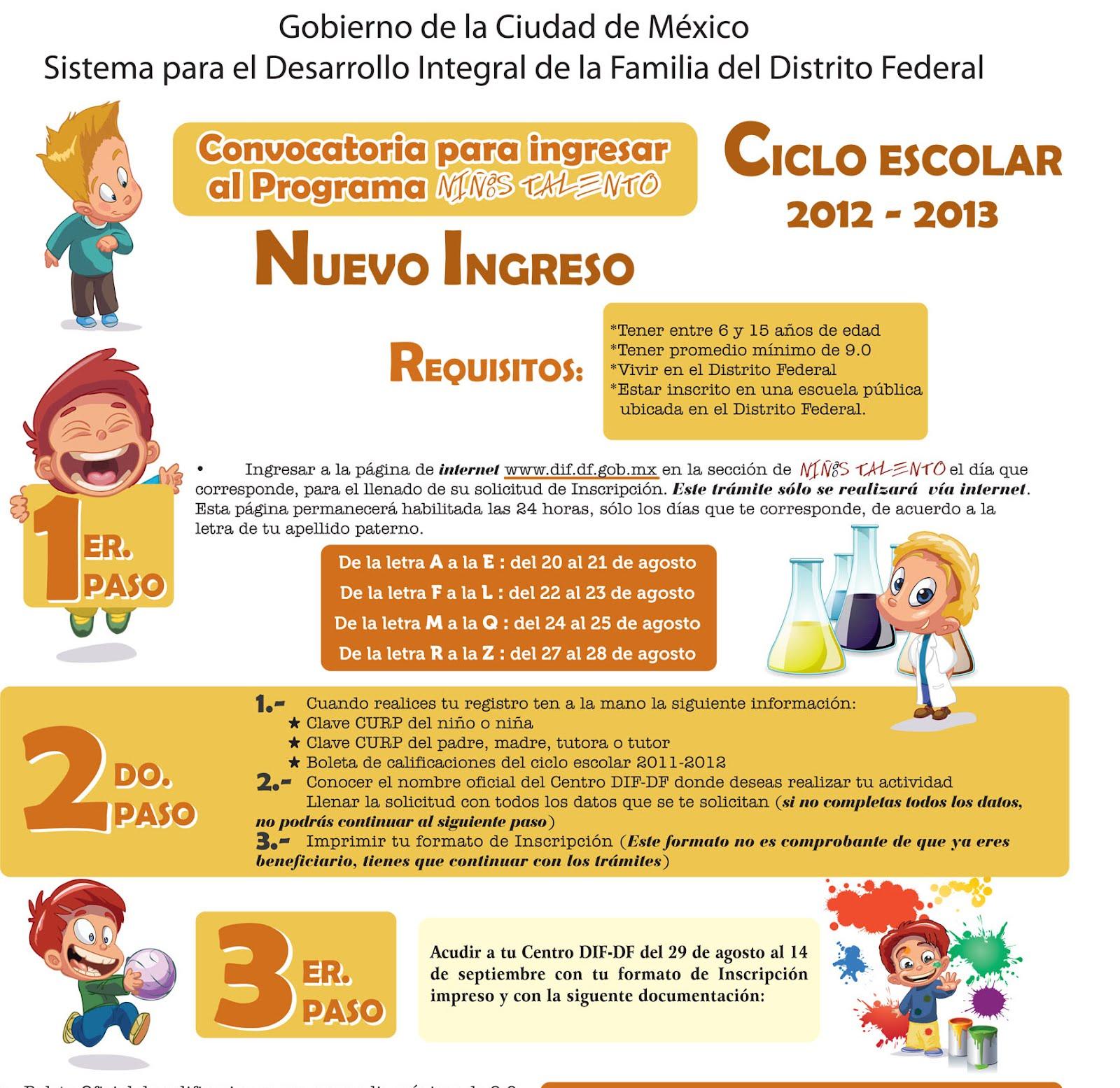 Guia inscripción niños talentos 2012 - 2013