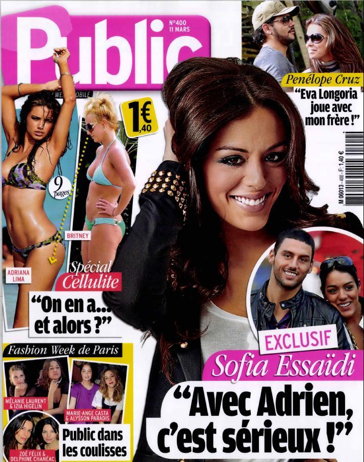 Sofia Essaïdi Adrien Galo son copain dans le magazine Public