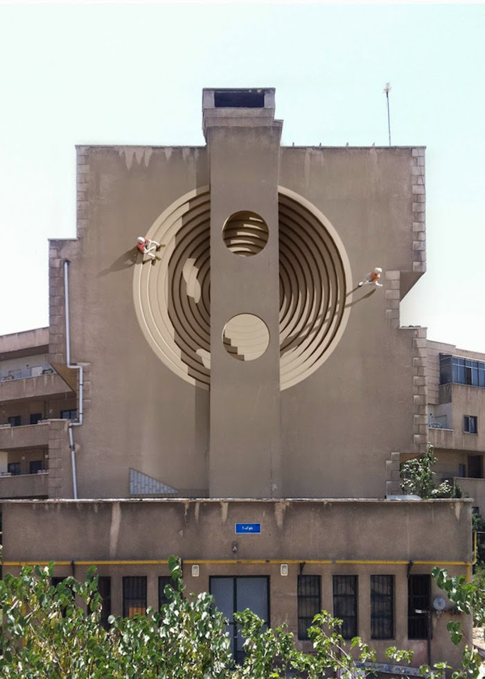 Murales en los edificios de Teheran 23