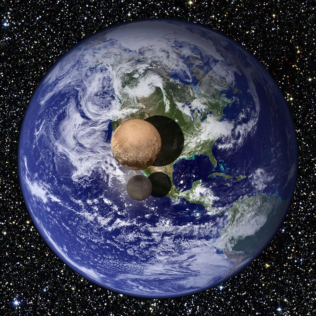 Plutão é menor que a Terra e menor que a nossa lua
