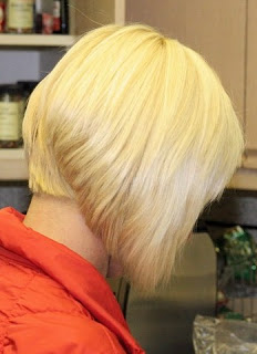 Layered Angled Bob Hairstyles Back View